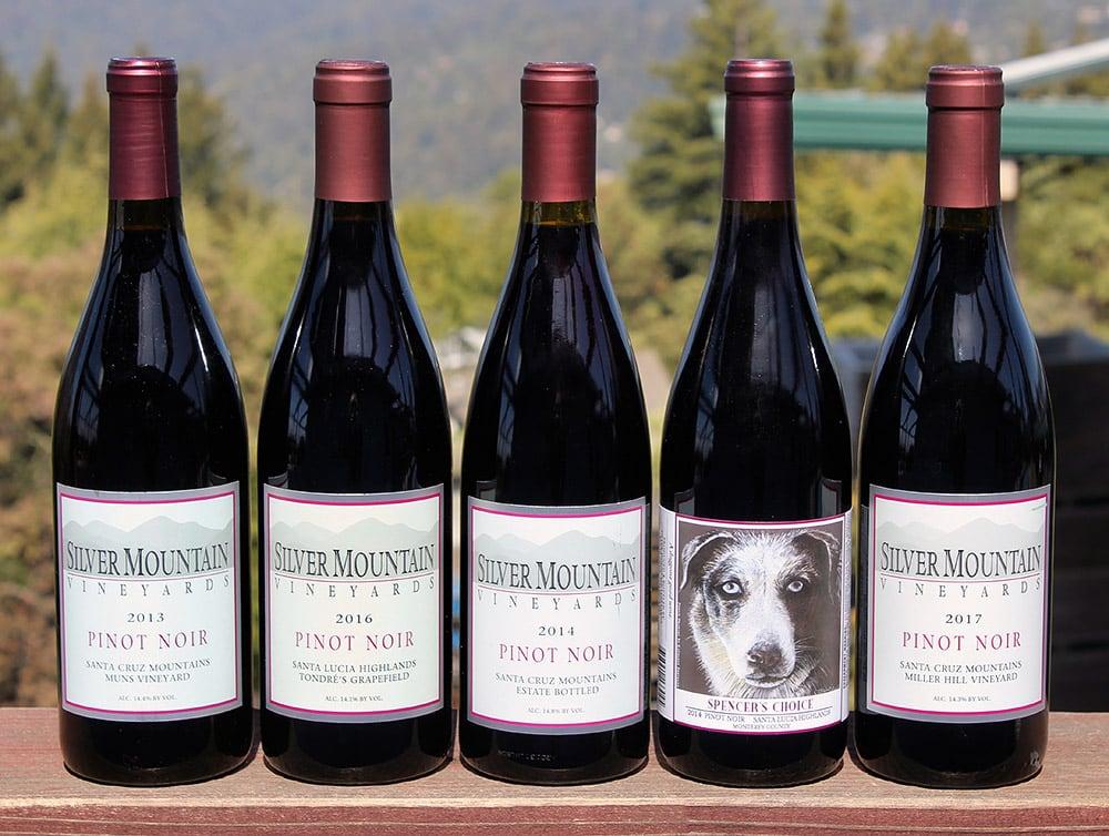Silver Mountain Vineyards Pinot Noirs
